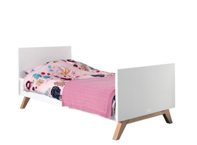 Bopita Lynn peuter bed 70x150 wit - naturel