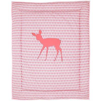 Taftan hertje roze box kleed 100x80