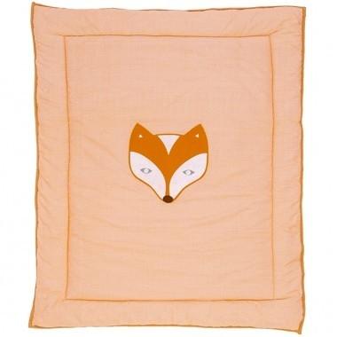 Taftan vos en raaf oranje box kleed 100x80