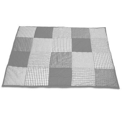 Taftan patcwork grijs box kleed 100x80