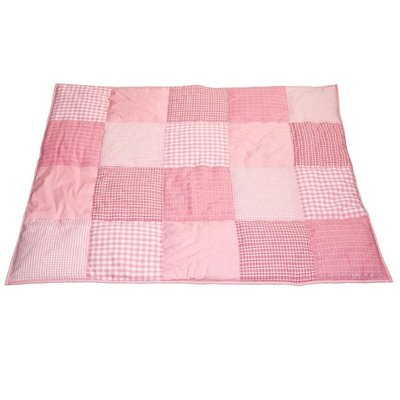 Taftan patcwork roze box kleed 100x80