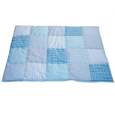 Taftan patcwork licht blauw box kleed 100x80