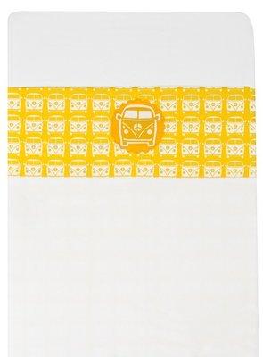 Taftan baby laken 100x80 busje geel
