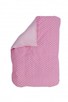 Bink Bedding baby overtrekje Little star roze 100x135