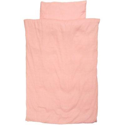 Taftan Biologisch katoen-hydrofiel 100x135 overtrekje roze