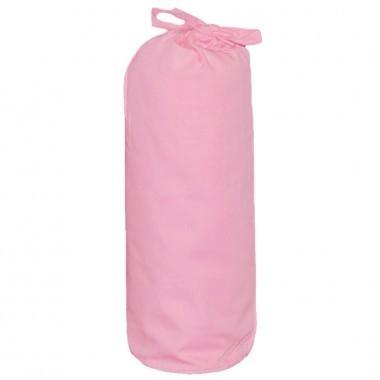 Taftan hoeslaken uni roze