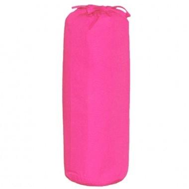 Taftan hoeslaken uni fucshia roze