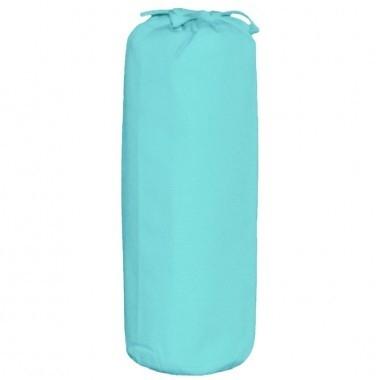 Taftan hoeslaken uni turquoise