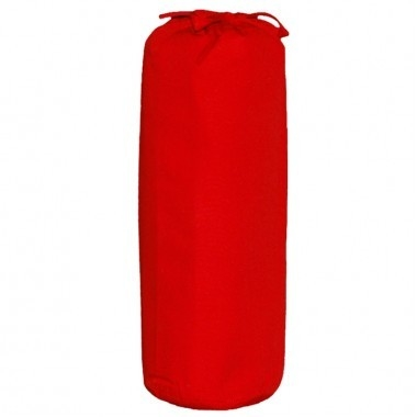 Taftan hoeslaken uni donker rood