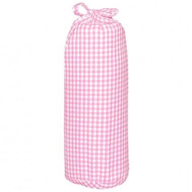 Taftan hoeslaken ruit klein 3mm roze