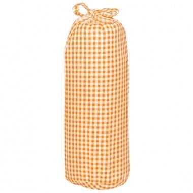 Taftan hoeslaken ruit klein 3mm oranje