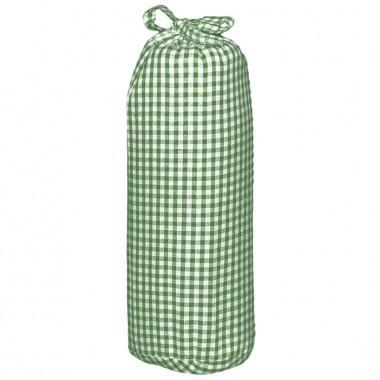 Taftan hoeslaken ruit klein 3mm groen