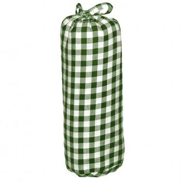 Taftan hoeslaken ruit 7mm groot groen
