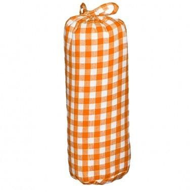 Taftan hoeslaken ruit 7mm groot oranje