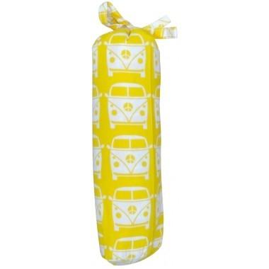Taftan hoeslaken busje geel