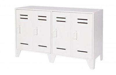 Woood Stijn locker dressoir laag 2 deurs wit