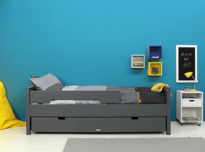 Bopita Jonne tiener bed 90x200 deep grey