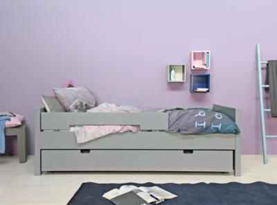 Bopita Jonne tiener bed 90x200 pure grey