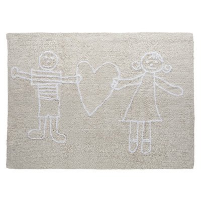 Lorena Canals cotton kids vloerkleed naturel