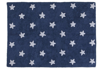 Lorena Canals star cotton vloerkleed marine