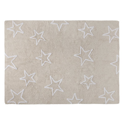 Lorena Canals estrellas cotton vloerkleed naturel