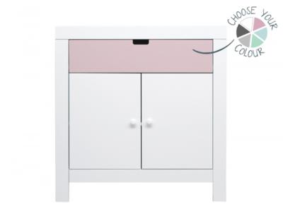 Bopita Babyflex 1 laden / 2 deuren commode 90 cm wit