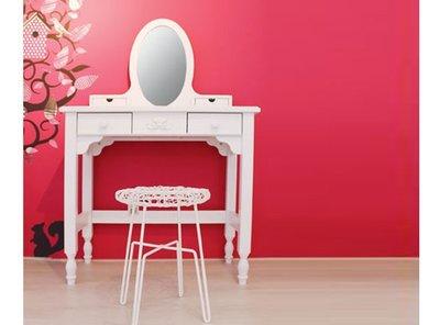Bopita Romantic kaptafel met spiegel wit