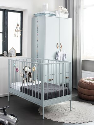 Coming kids Bliss ledikant 60x120 metaal-hout seagreen