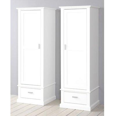 Alta 5391 1-deurs rechts draaiend kledingkast grenenhout wit