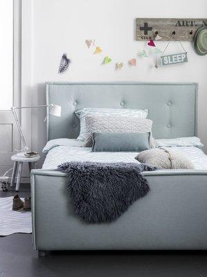 Coming kids Sun luxe gestoffeerd twijfelaar bed 140 x 200