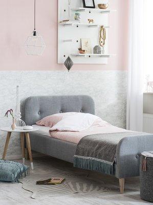 Coming kids Kate luxe gestoffeerd twijfelaar bed 140 x 200