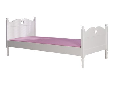 lilli furniture tienerbed Emma met hartje 90x200 wit