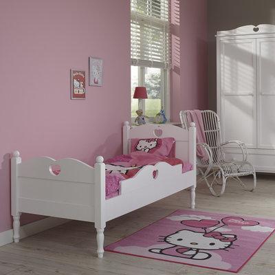 lilli furniture peuterbed Emma met hartje en uitvalbeveiliging 70x150 wit