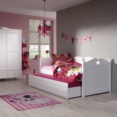 lilli furniture bedbank Emma 90x200 + 3 in 1 slaap/opberglade wit
