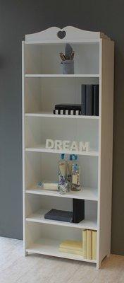 lilli furniture boekenkast Emma met hartje wit