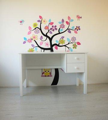 lilli furniture bureau Jamie met 2 laden wit