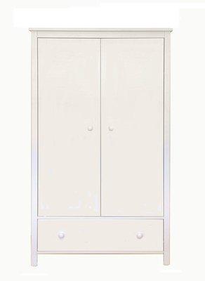 lilli furniture 2 deurs Jamie kledingkast met lade wit