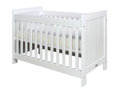 Bopita Basic wood baby ledikant 60x120 grenen white wash