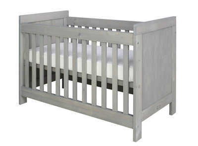 Bopita Basic wood baby ledikant 60x120 grenen gravel wash