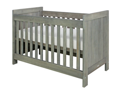 Bopita Basic wood baby ledikant 60x120 grenen grey wash