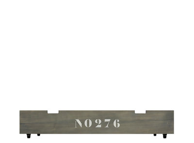 Bopita Basic wood babyflex lade op wielen grey wash tbv 60x120 combi ledikant