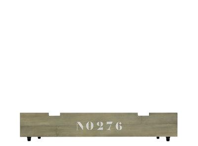 Bopita Basic wood babyflex lade op wielen stone wash tbv 60x120 combi ledikant