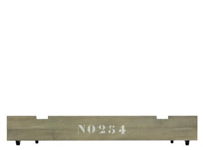 Bopita Basic wood babyflex lade op wielen stone wash tbv 70x140 combi ledikant
