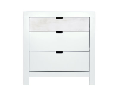 Bopita Basic wood Babyflex 3 laden commode 90 cm white wash/white wash uni