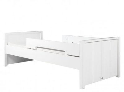Bopita Basic wood 90x200 bed +dubbele uitval grenen white wash