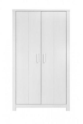 Bopita Basic wood 2 deurs kleding kast white wash