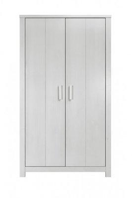 Bopita Basic wood 2 deurs kleding kast blue wash
