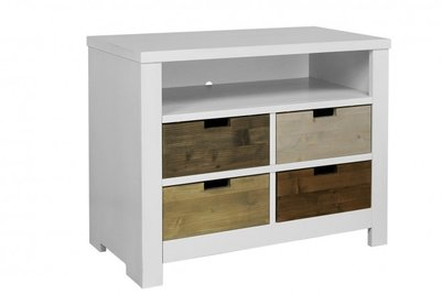 Bopita Basic wood ladenkast white wash