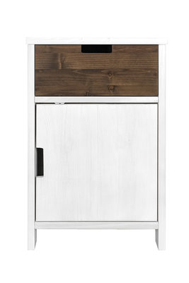 Bopita Basic wood ladeblok 1 deur white wash