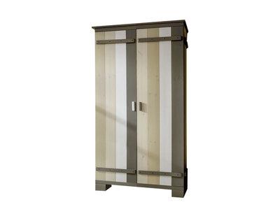 Infanskids 2 deurs kleding kast Merlin wit - mixed wood